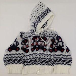 Vintage Baby Teddy Bear Sweater Giltknits 1980s